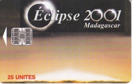 TARJETA DE MADAGASCAR DE EL ECLIPSE DEL AÑO 2001 - Madagascar