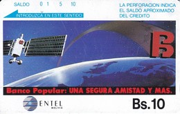 TARJETA DE BOLIVIA DE ENTEL DE UN SATELITE (SATELLITE) - Bolivia