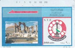 TARJETA DE SIRIA DE 200 UNITS DE PALMIRA (TAMURA) - Siria
