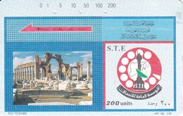 TARJETA DE SIRIA DE 200 UNITS DE PALMIRA (TAMURA) - Syria