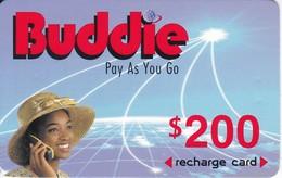 TARJETA DE ZIMBAWE DE $200 DE UNA MUJER (BUDDIE) FECHA CADUCIDAD 01/01/2004 - Zimbabwe