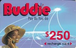 TARJETA DE ZIMBAWE DE $250 DE UNA MUJER (BUDDIE) FECHA CADUCIDAD 01/01/2004 - Zimbabwe