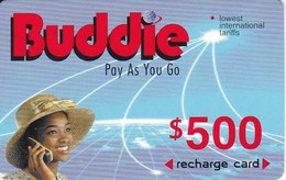 TARJETA DE ZIMBAWE DE $500 DE UNA MUJER (BUDDIE) FECHA CADUCIDAD 01/01/2003 - Zimbabwe