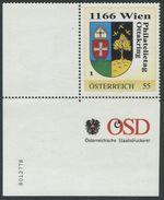 ÖSTERREICH / Philatelietag 1166 Wien / 8012778 / Eckrandstück (war Gefaltet) Mit Nummer / Marke Postfrisch / ** / MNH - Österreich