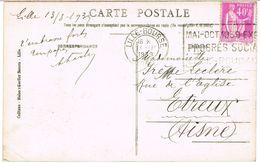 O.MEC FLIER LILLE BOURSE PROGRES SOCIAL LILLE ROUBAIX SUR CPA - Marcophilie (Lettres)
