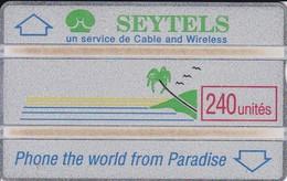 TARJETA DE SEYCHELLES DE 240 UNITES (SEYTELS) NUEVA-MINT (910G) - Seychelles