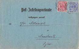 DR Post-Zustellungsurkunde Mif Minr.47,48 Hammereisenberg 24.2.99 - Deutschland