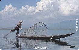 TARJETA URMET DE MYANMAR DE UN PESCADOR (INLAY LAKE) NUEVA-MINT - Myanmar (Burma)