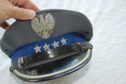 Casquette De Policier Pologne Taille 56 - Casques & Coiffures