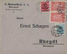 DR Brief Mif Minr.2x 257,282,285 Barmen 21.9.23 - Deutschland