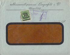 DR Brief Teilfrankatur Minr.287, Gebühr Bezahlt Bpst. Reichenbach-Lengenfeld - Deutschland
