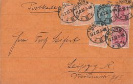 DR Karte Mif Minr.3x 141,2x 145,160 Berlin 17.2.22 - Deutschland