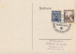 DR Karte Mif Minr.665,Sudetenland SST Karlsbad 4.12.38 Ansehen !!!!!!!!!!!!!! - Briefe U. Dokumente