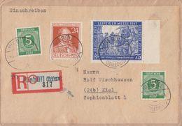 Gemeina. R-Brief Mif Minr.2x 915,963,966 Niebüll 6.11.47 - Gemeinschaftsausgaben