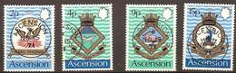 Ascension 1971 Yvertn° 153-156 (°) Used Oblitéré Cote 9 Euro Blasons De La Marine Royale - Ascension (Ile De L')