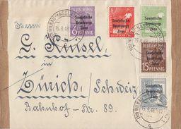 SBZ Brief Mif Minr.183,184,185,186,187 Wilkau-Hasslau 15.9.48 Gel. In Schweiz - Sowjetische Zone (SBZ)
