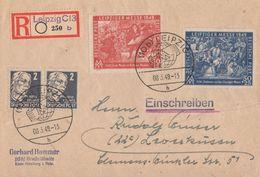 SBZ R-Brief Mif Minr.2x 212,230,231 Leipzig 8.3.49 - Sowjetische Zone (SBZ)