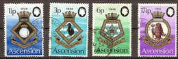 Ascension 1972 Yvertn° 157-160 (°) Used Oblitéré Cote 7,50 Euro Blasons De La Marine Royale - Ascension (Ile De L')