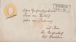 Preussen GS-Umschlag 3 Sgr. R2 Ratibor 23.9. - Preussen