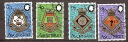 Ascension 1973 Yvertn° 167-100 (°) Used Oblitéré Cote 10 Euro Blasons De La Marine Royale - Ascension (Ile De L')