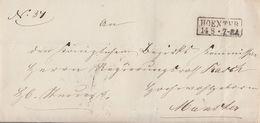 Preussen Brief R2 Hoexter 14.8. Gel. Nach Münster - Preussen