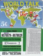GREECE - World Talk, Best Telecom Prepaid Card 5 Euro, Used - Griechenland