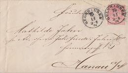 NDP GS-Umschlag 1 Gr. Nachv. Stempel K1 Gelnhausen 25.11. Gel. Nach Hanau - Norddeutscher Postbezirk
