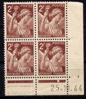 FRANCE - CD653** - TYPE IRIS - Coins Datés