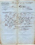 VP10.513 - Lettre / Facture - Métaux Bruts & Ouvres Charles LADOUGE à MARSEILLE Pour LIMOUX - France