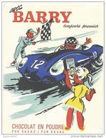 Vieux Papier : Protège  Cahier  Barry Chocolat En Poudre Automobile  Et Code De La Route, Le Mans  Voiture - Automobile