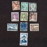 10x Stamps - 1947-49- SIAM - THAILAND-Stamp-King-Bhumibol-Definitive-Set - Thailand Air Mail -  Vietnam - Siam