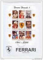 Angola - Busta FDC Piloti Campioni Del Mondo Della Ferrari - 1961-2000 - Cars