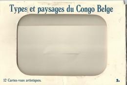 Belgisch Congo Types Et Paysages Du Congo Belge 12 Cartes Vues Artistiques - Belgisch-Congo - Varia