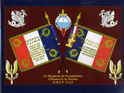Militaria - Photo Du Drapeau Du 1er Régiment De Parachutistes D'Infanterie De Marine - Flaggen