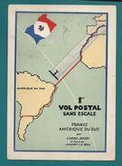 POSTE AÉRIENNE - RAID INTERROMPU - FRANCE-AMÉRIQUE-du-SUD - MARSEILLE/  CODOS-ROSSI à Bord Du JOSEPH LE BRIX. - Postmark Collection (Covers)