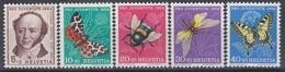 SWITZERLAND 602-606,unused - Vlinders