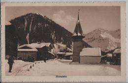 Monstein Dorfpartie Im Winter En Hiver - Animee - Photo: Carl Künzli No. 7052 - GR Grisons