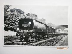 Postcard The Bournemouth Belle 35013 Steam Loco British Railways Photo Train  My Ref  B11527 - Trains