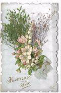 CARTE FANTAISIE - Fleurs - Heureuse Fête - Fantaisies