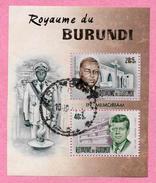 Royaume Du BURUNDI - 1966 Bloc N° 10 - Oblitéré -  Prince Louis Rwagasore Et Président John Kennedy - 1962-69: Oblitérés