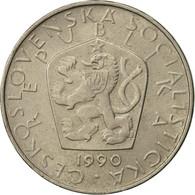 Tchécoslovaquie, 5 Korun, 1990, TTB+, Copper-nickel, KM:60 - Czechoslovakia