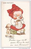 TUCK'S POSTCARD 1910s - GIRL & DOG -  WAR RATIONS - N. 3125 - Tuck, Raphael