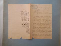 CATHEUX OISE FERME LANCASTER CULTIVATEUR COURRIER DU 25 JUILLET 1923 - Manuscripts