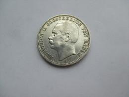 Baden 3 Mark 1909 G Friedrich II. - 2, 3 & 5 Mark Zilver