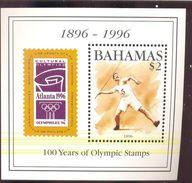 BAHAMAS   874  MINT NEVER HINGED SET OF S/S OF 100 YEAR OF OLYMPICS  ( - Bahamas (1973-...)