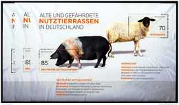 A00-28) BRD - 3x Michel Block 81 = 3261 / 3262 - ** Postfrisch - Ausgabe 01.09.2016 - 155C  Nutztierrassen - [7] République Fédérale