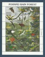 Micronesie 1991 Yv.  Feuillet 176/193 ** La Foret Humide De Pohnpei - Rain Forest - Birds Oiseaux  See Description - Micronesia