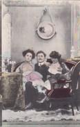 3 Cartes Postales Prostitution : Scènes De Fantaisie  Dans Maison Close ? Client Et Deux Femmes Seins Nus , ... - Vrouwen