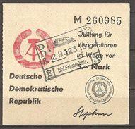 (a1266) DDR // Visagebühren Quittung - Briefe U. Dokumente