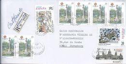Letter Registered 6 Stamps Of Xacobeo 1999,Galicia.Paths Of Santiago,Cruzeiro De Paradela, Lugo.Scenes Don Quixote.2scn - Christendom